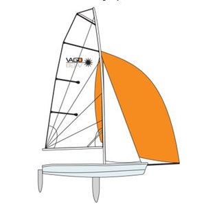 Vago gennaker orange voile