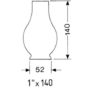 Chimney for gimbal lamp 1X140 for :8208,8214,8917