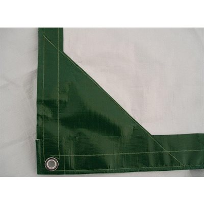 Tarp 8' X 10' green / white