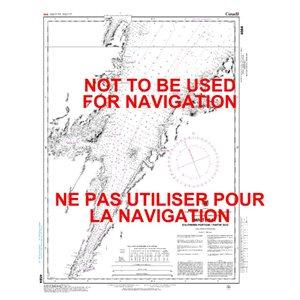 Carte 4584 White Bay: Partie Sud