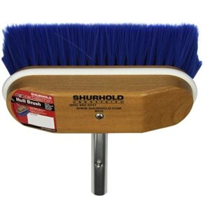 """Window and hull brush 8"""" with extra soft blue nylon bristles easily and positively locks into any Shurhold handle"""