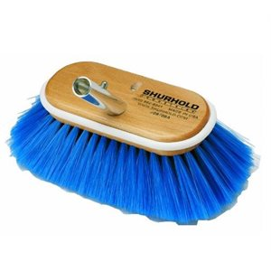 """Deck brush 6"""" with extra soft blue nylon bristles easily and positively locks into any Shurhold handle"""