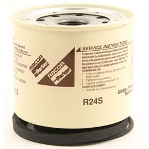 Elément de remplacement 2 Micron (spin-on) pour filtre / séparateur d'eau Racor 220R pour carburant diesel.