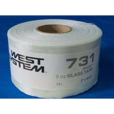 """Fiberglass cloth 9 oz x 3"""" 50 yd roll"""