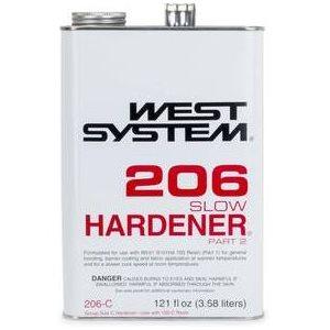 West 206-C durcisseur d'époxy lent 3.58L