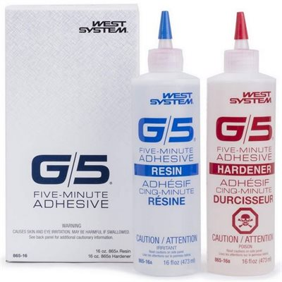 G5 5 minute epoxy kit 2 x 473ml