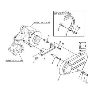 Bolt belt cover (part 6 in diagram) 3ym15(20)(30)