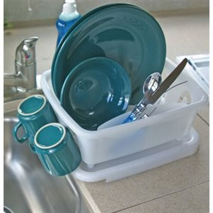 Mini dish drainer with tray