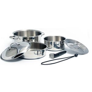 Cookware set nesting stainless 7pc