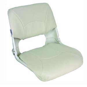 "Skipper seat with cushion white 17"" D x 20"" W x 18"" H"