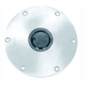 "Base ronde Plug-In ™ de 9"" en aluminium trou 2-3 / 8"""