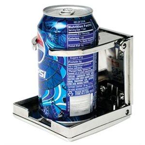 Porte-boisson pliable réglable chrome