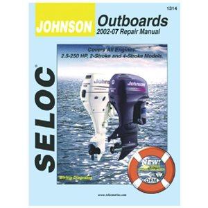 Seloc repair manual for Johnson / Evinrude outboards 1.5-125hp 1958-1972