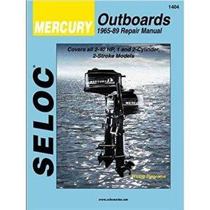 Seloc repair manual for mercury outboards 1-2 Cyl, 2-40 HP, 1965-1989