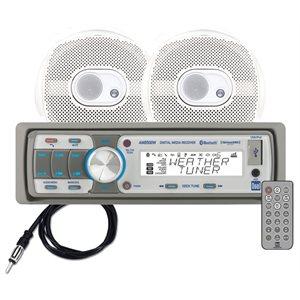 Digital media stereo receiver kit with speakers