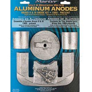 Anode kit aluminum Merc Bravo 2 & 3