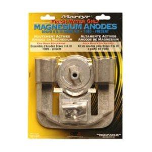 Anode kit Mercury Bravo 2 & 3 magnesium