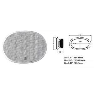 "Haut-Parleurs 8 ""x 10"" Oval Poly-planar Blanc"