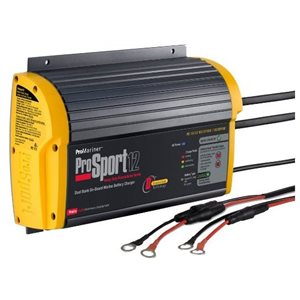 Heavy-duty recreational series on-board marine battery charger 12 amp