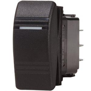 Contura switch DPST black - OFF-ON