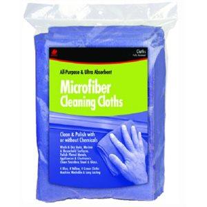 "Microfiber cloths 12"" x 12"" blue (3)"