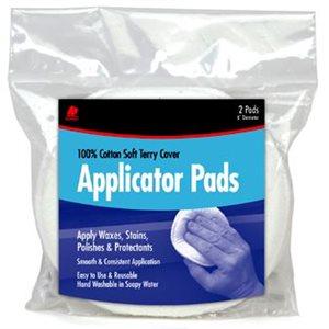 "Terry cloth applicator pad 5"" (2)"
