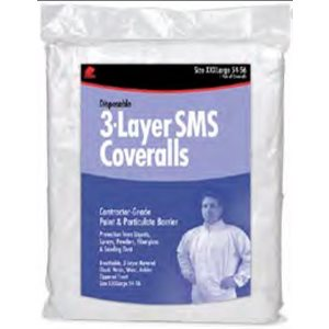 Three-layer SMS coverall no hood large