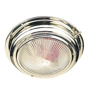"""Dome light day(white) / night(red) stainless 6-3 / 4"""""""
