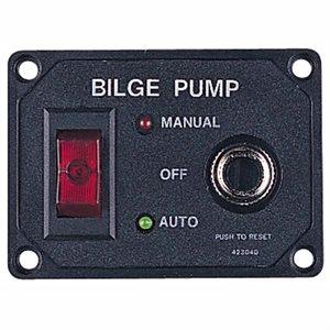 "Bilge pump switch with breaker 2-3 / 16"" x 3"""