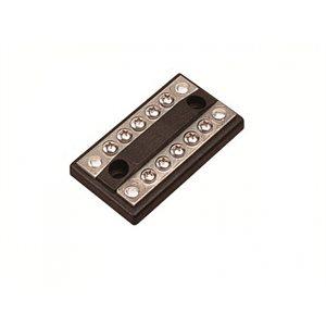 """Barre de Jonction en laiton plaqué d'étain bornes 10 x # 8-32, 3-1 / 4 """"x 1-13 / 16"""""""