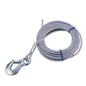 """Câble de treuil pour remorque galvanisé 3 / 16"""" x 20 '"""
