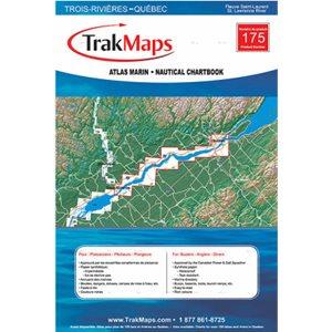 Fleuve Saint-Laurent : Trois-Rivières à Québec - Atlas Marin Trak maps