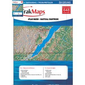 Fleuve Saint-Laurent : Québec à Tadoussac / Trois-Pistoles - Atlas Marin Trak maps