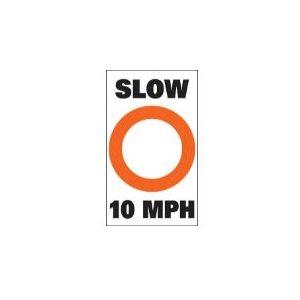 """Marker buoy label """"Slow 10 MPH """" (2)"""