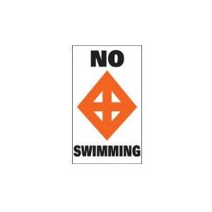 "Marker buoy label ""NO SWIMMING "" (2)"