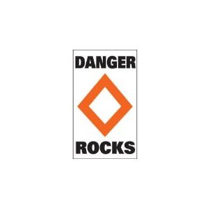 "Marker buoy label ""ROCKS"" (2)"