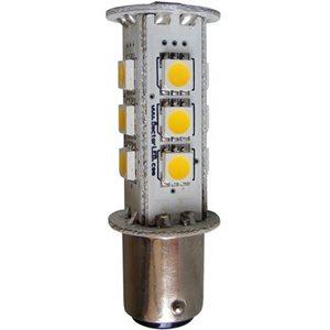 Ampoule DEL double contact à baïonnette 13 DELs rouges 12V
