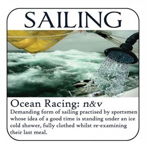 Coaster - Salty Saying - Ocean Racing