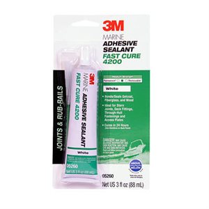3M Marine Adhesive / Sealant Fast Cure 4200 blanc 3 onces