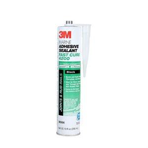 3M Marine Adhesive / Sealant Fast Cure 4200 black 10 oz