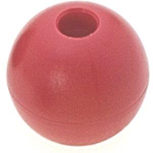 Boule d'emprise rouge 28 mm trou 6 mm