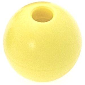 Boule d'emprise jaune 28 mm trou 6 mm