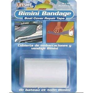 """Bimini / boat cover repair tape 3"""" x15"""" white"""