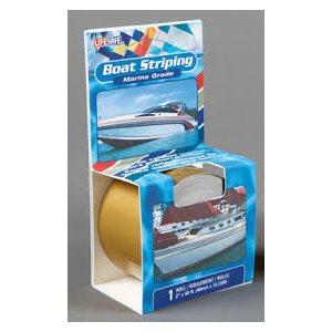 "Boat striping tape 2"" x 50' metalic bright gold"