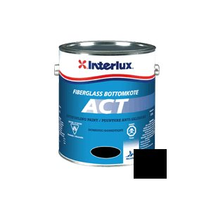 Fiberglass Bottomkote Act Black 1 Liter