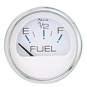 Fuel guage Chesapeake stainless / white