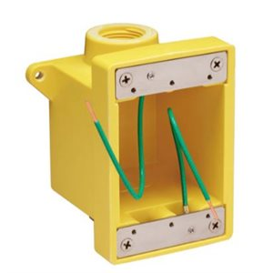 FD Box - will accept 15a, 20a, 30a and 50a receptacles.