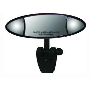 """Miroir marin Ellipse 4 """"x 11"""" Lentille stationnaire convexe de 3,25 x 6 pouces au centre et deux lentilles plates réglables de 2,5 x 2,5 pouces de chaque côté."""