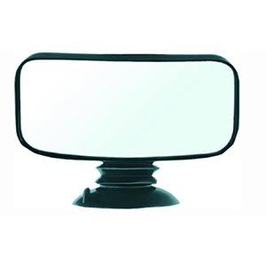 """Miroir convexe entièrement réglable de 4 """"x 8"""" support à ventouse"""