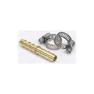 Hose mender 1 / 4'' brass with stainless clamps